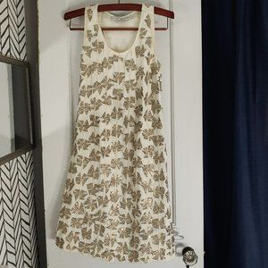 Blank cream and gold dress small